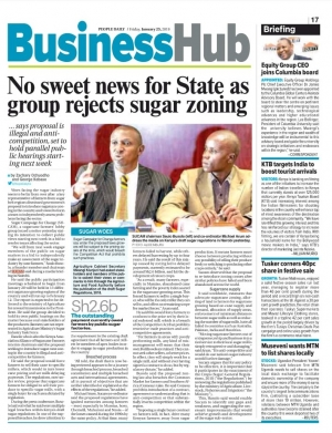 No sweet news for state as group rejects sugar zoning
